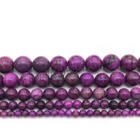 Natürliche Charoit Perlen, rund, poliert, DIY & verschiedene Größen vorhanden, violett, Bohrung:ca. 1mm, verkauft von Strang