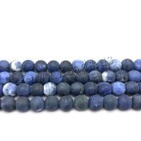 Sodalith Perlen, Sosalith, rund, DIY & verschiedene Größen vorhanden & satiniert, Bohrung:ca. 1mm, verkauft von Strang