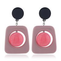 Acryl Tropfen Ohrring, mit Harz, für Frau & hohl, keine, 40x72mm, 2PaarePärchen/Menge, verkauft von Menge