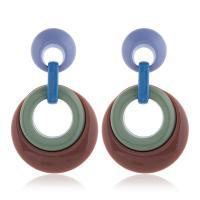 Acryl Tropfen Ohrring, mit Harz, für Frau & hohl, keine, 38x62mm, 2PaarePärchen/Menge, verkauft von Menge