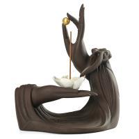Porcelain Backflow Incense Burner, Lila Sand, Halbhandgefertigt, verschiedene Größen vorhanden, verkauft von PC