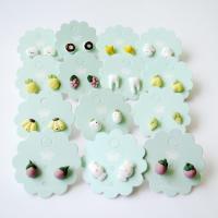 Porzellan-Ohrringe, Porzellan, Blume, verschiedene Größen vorhanden & für Frau, himmelblau, 10mm, verkauft von Paar
