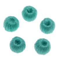 Caddice Perle, DIY, blaugrün, 14mm, Bohrung:ca. 3mm, ca. 200PCs/Tasche, verkauft von Tasche