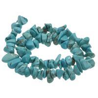Synthetische Türkis Perle, DIY, himmelblau, 12*10*7mm-19*14*7mm, Bohrung:ca. 1mm, verkauft per ca. 14.9 ZollInch Strang
