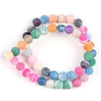 Natürliche Effloresce Achat Perlen, Auswitterung Achat, rund, DIY & verschiedene Größen vorhanden, keine, verkauft von Strang