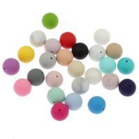 Silikon-Perlen, Silikon, rund, verschiedene Größen vorhanden, keine, Bohrung:ca. 2mm, ca. 100PCs/Tasche, verkauft von Tasche