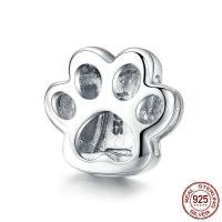 925 Sterling Silber Perlen, 925er Sterling Silber, Klaue, platiniert, DIY & hohl, 11x11mm, verkauft von PC