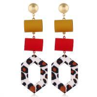 Acryl Tropfen Ohrring, mit Zinklegierung, plattiert, für Frau & mit Strass, 30x102mm, verkauft von Paar