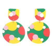 Harz Tropfen Ohrring, mit Zinklegierung, plattiert, verschiedene Stile für Wahl & für Frau, verkauft von Paar
