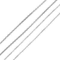 Edelstahl ovale Kette, verschiedene Größen vorhanden & Oval-Kette, originale Farbe, 100m/Spule, verkauft von Spule