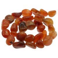 Natürlich rote Achat Perlen, Roter Achat, rot, 17x16x13mm, Bohrung:ca. 1mm, verkauft per ca. 14.9 ZollInch Strang