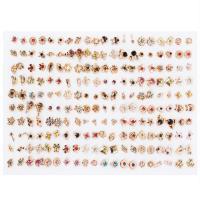 Harz Ohrstecker, verschiedene Stile für Wahl & für Frau & mit Strass, 5-20mm, 100PaarePärchen/setzen, verkauft von setzen