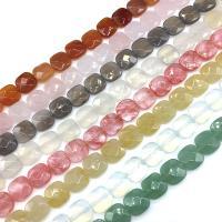 Edelstein Schmuckperlen, verschiedenen Materialien für die Wahl & facettierte, 12*5mm, ca. 16PCs/Strang, verkauft von Strang