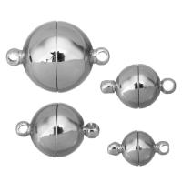 Messing Magnetverschluss, platiniert, verschiedene Größen vorhanden, frei von Nickel, Blei & Kadmium, 100PCs/Menge, verkauft von Menge