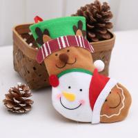 Stoff Weihnachten Socke, verschiedene Stile für Wahl, 200*150mm, 5PCs/Tasche, verkauft von Tasche