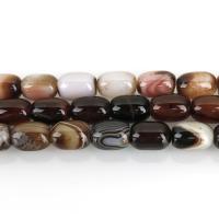 Natürliche Streifen Achat Perlen, keine, 12x30mm, Bohrung:ca. 1.5mm, 22PCs/Strang, verkauft per ca. 15 ZollInch Strang