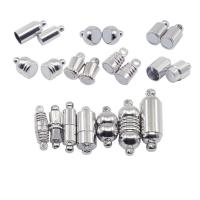 Messing Magnetverschluss, DIY & verschiedene Stile für Wahl, Silberfarbe, frei von Nickel, Blei & Kadmium, 10PCs/Tasche, verkauft von Tasche