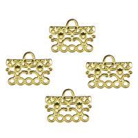 Eisen Schmuckverbinder, goldfarben plattiert, 1/5-Schleife & hohl, frei von Nickel, Blei & Kadmium, 15x19x1mm, Bohrung:ca. 2.4mm, 500PCs/Tasche, verkauft von Tasche