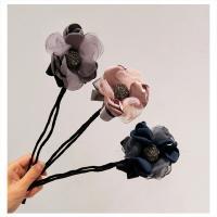 Haarknoten Dutt Dreher, Stoff, mit Eisen, Blume, plattiert, für Frau, keine, 350mm, 2PCs/Menge, verkauft von Menge