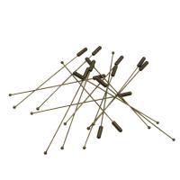 Verschiedene Komponente, Zinklegierung, antike Bronzefarbe plattiert, DIY, frei von Nickel, Blei & Kadmium, 86x4x4mm, Bohrung:ca. 3mm, 10PCs/Tasche, verkauft von Tasche