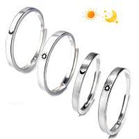 925er Sterling Silber Paar- Ring, platiniert, verschiedene Stile für Wahl & gebürstet & glatt, verkauft von PC