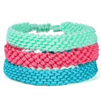 Gewachsten Baumwollkordel Armband, Bohemian-Stil & für Frau, keine, 8mm, verkauft per ca. 6.3-12.6 ZollInch Strang