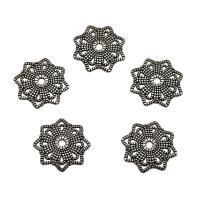 Zinklegierung Perlenkappe, Blume, antik silberfarben plattiert, frei von Nickel, Blei & Kadmium, 20.50x20.50x2.50mm, Bohrung:ca. 1.5mm, ca. 100PCs/Tasche, verkauft von Tasche
