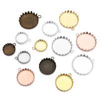 Messing Anhänger Zubehör, rund, plattiert, verschiedene Größen vorhanden, keine, frei von Nickel, Blei & Kadmium, 10PCs/Tasche, verkauft von Tasche