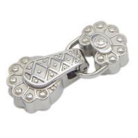 Edelstahl Lederband Verschluss, poliert, originale Farbe, 32.50x14x7.50mm, Bohrung:ca. 10x4mm, verkauft von PC