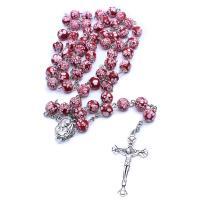Glasperlen Halsketten, mit Zinklegierung, plattiert, unisex, keine, frei von Nickel, Blei & Kadmium, 145mm, verkauft von Strang