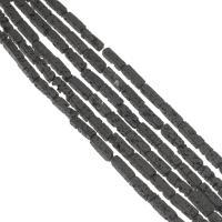 Natürliche Lava Perlen, Rechteck, verschiedene Größen vorhanden, schwarz, Bohrung:ca. 1mm, verkauft per ca. 14.9 ZollInch Strang