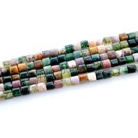 Natürliche Indian Achat Perlen, Indischer Achat, Zylinder, poliert, DIY, farbenfroh, 4x4mm, Bohrung:ca. 1mm, 2SträngeStrang/Menge, ca. 95PCs/Strang, verkauft von Menge