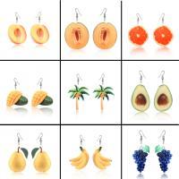 Acryl Tropfen Ohrring, ObstFrucht, verschiedene Stile für Wahl & für Frau, 2PaarePärchen/Menge, verkauft von Menge