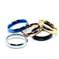 Edelstahl Fingerring, plattiert, unisex & verschiedene Größen vorhanden & für paar, keine, verkauft von PC