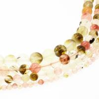 Wassermelone Perle, rund, DIY & verschiedene Größen vorhanden, Bohrung:ca. 1mm, verkauft per ca. 14.9 ZollInch Strang