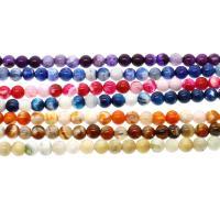 Feuerachat Perle, rund, verschiedene Größen vorhanden, keine, Bohrung:ca. 1mm, verkauft per ca. 14.9 ZollInch Strang