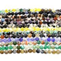 Feuerachat Perle, rund, verschiedene Größen vorhanden & facettierte, keine, verkauft per ca. 14.9 ZollInch Strang