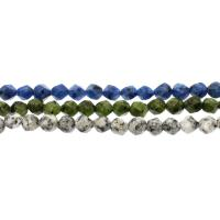 Dalmatinische Perlen, Dalmatiner, facettierte, keine, 8mm, ca. 45PCs/Strang, verkauft per ca. 14.9 ZollInch Strang