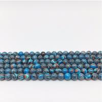 Synthetische Türkis Perle, rund, DIY & verschiedene Größen vorhanden, verkauft per ca. 14.9 ZollInch Strang