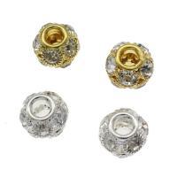 Strass Messing Perlen, rund, plattiert, DIY & verschiedene Größen vorhanden & mit Strass, keine, frei von Nickel, Blei & Kadmium, verkauft von Tasche
