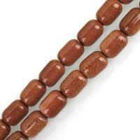 Goldstein Perlen, Goldsand, DIY & verschiedene Größen vorhanden, Bohrung:ca. 1.5mm, verkauft per ca. 15 ZollInch Strang