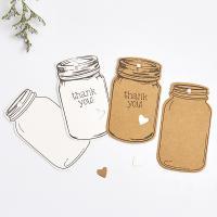 Papier Label- Tag, Flasche, abnehmbare & verschiedene Stile für Wahl & verschiedene Muster für Wahl, 75*44mm, 2SetsSatz/Tasche, 50PCs/setzen, verkauft von Tasche