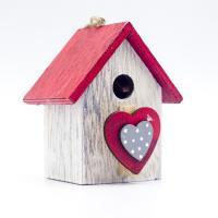 Holz Haus, Einbrennlack, DIY & verschiedene Stile für Wahl & hohl, 80*70mm, 2PCs/Tasche, verkauft von Tasche
