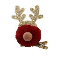 Eisen mit Plüsch, Weihnachtselch, für Kinder, keine, 70*50mm, 5PCs/Tasche, verkauft von Tasche