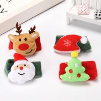 Eisen Weihnachten Schlag Armband, mit Baumwollsamt, verschiedene Stile für Wahl, 30*225mm, 5PCs/Tasche, verkauft von Tasche