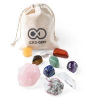 Edelstein mit Leinen, gemischt, 30-60mm,20mm, 10PCs/Tasche, verkauft von Tasche
