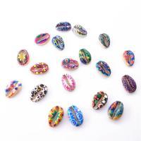 Zink Legierung Perlen Schmuck, Zinklegierung, goldfarben plattiert, Drucken & gemischt, frei von Nickel, Blei & Kadmium, 16*11*4mm, 50PCs/Tasche, verkauft von Tasche