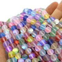 Labradorit Perlen, rund, verschiedene Größen vorhanden & satiniert, keine, Bohrung:ca. 1mm, verkauft per ca. 14.9 ZollInch Strang