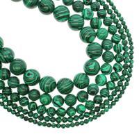 Malachit Perlen, rund, verschiedene Größen vorhanden, grün, Bohrung:ca. 1mm, verkauft per ca. 14.9 ZollInch Strang