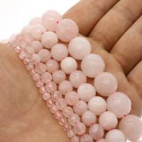Natürliche Rosenquarz Perlen, rund, verschiedene Größen vorhanden & facettierte, Rosa, Bohrung:ca. 1mm, verkauft per ca. 14.9 ZollInch Strang